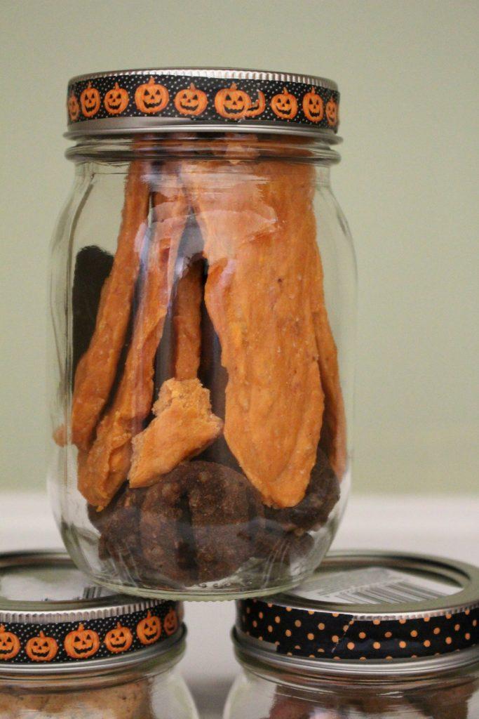 Halloween Treats for Dogs in Jar