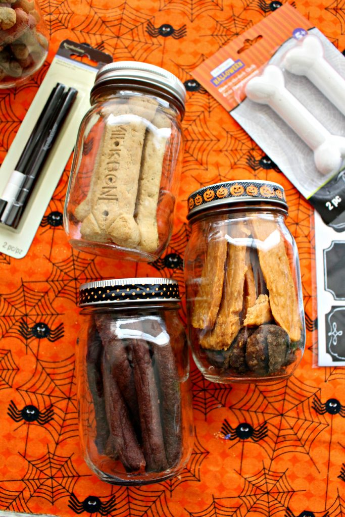 Halloween Dog Treats in Jar