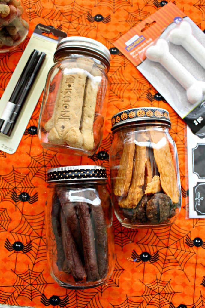 Halloween Dog Treats in Jar
