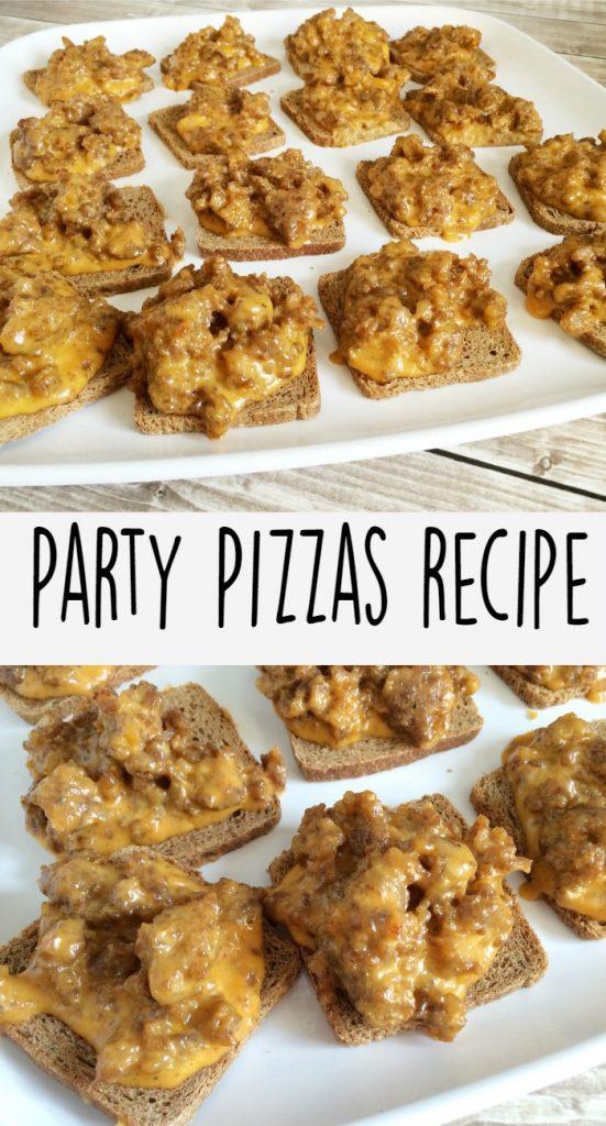 Rye Bread Party Pizza Recipe