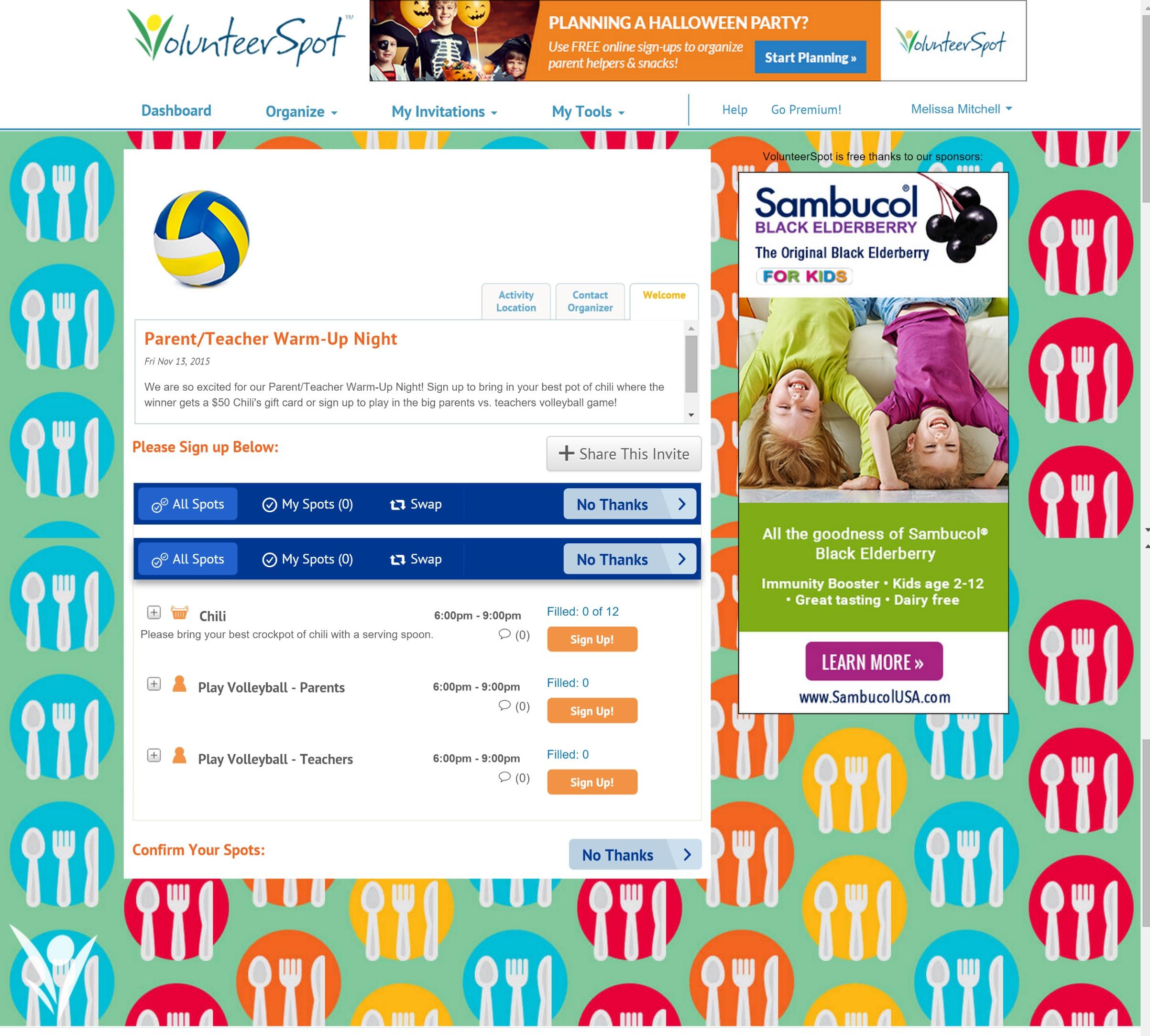 VolunteerSpot Sign Up