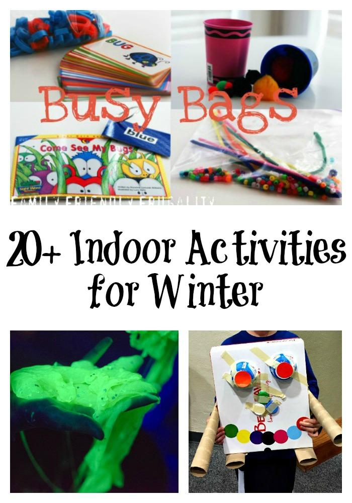 20+ Indoor Activities for Winter