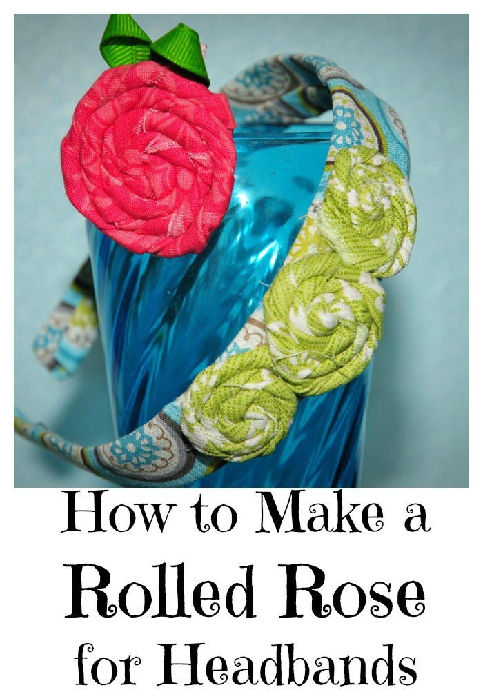 How to Make a Rolled Rose for a Headband