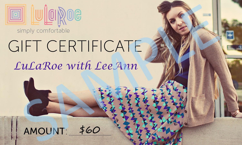 LLR Gift Certificate - 60 Sample
