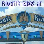 Five Favorite Rides at the Magic Kingdom