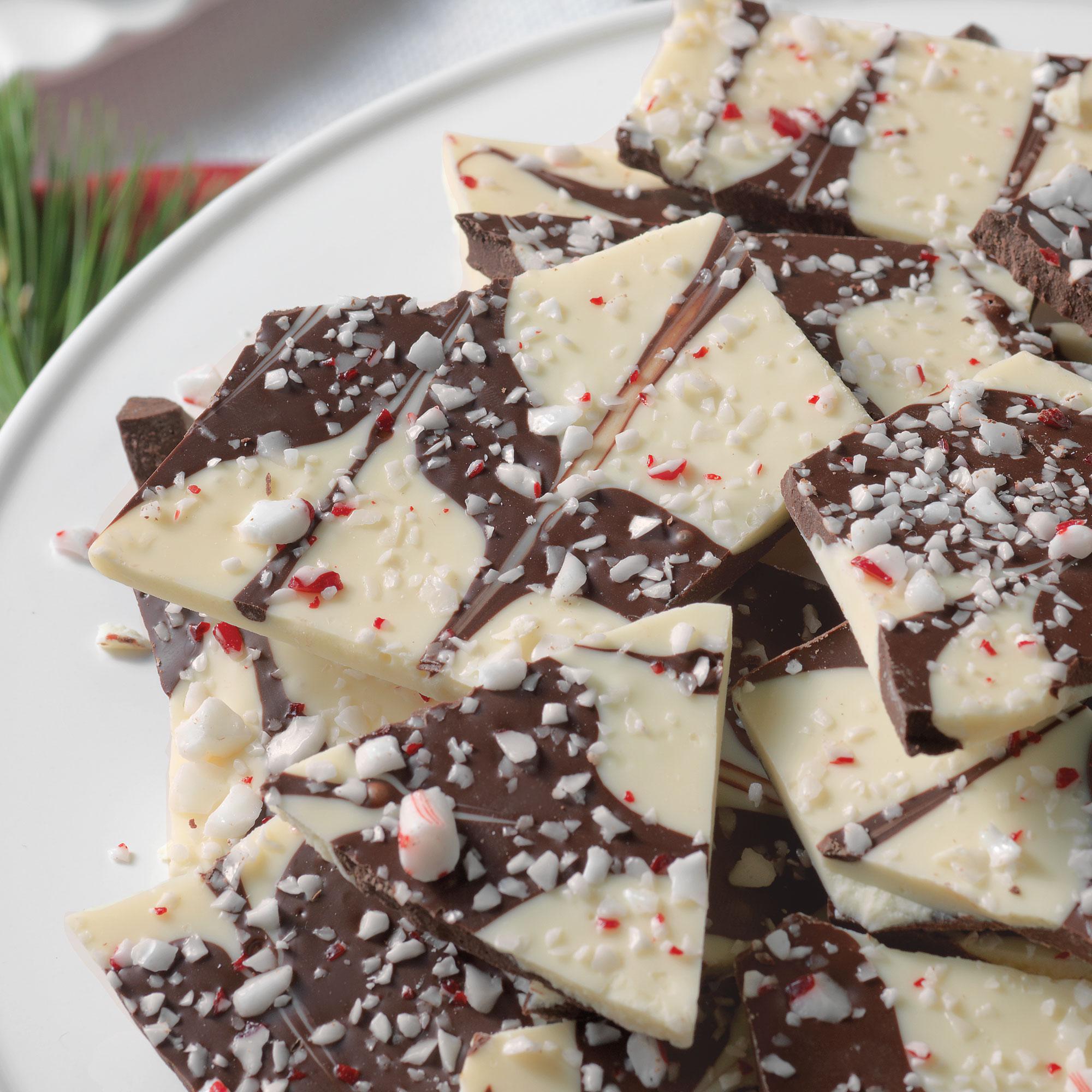 Dark Chocolate Peppermint Bark - Pumpkin Chocolate Chip Cookies