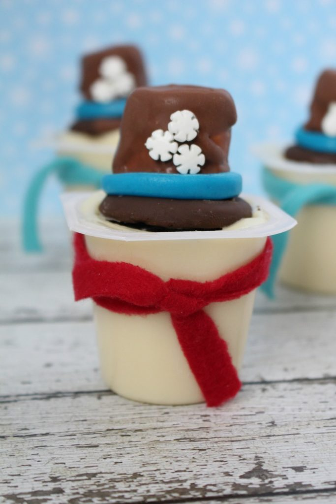 Melted Snowman Pudding