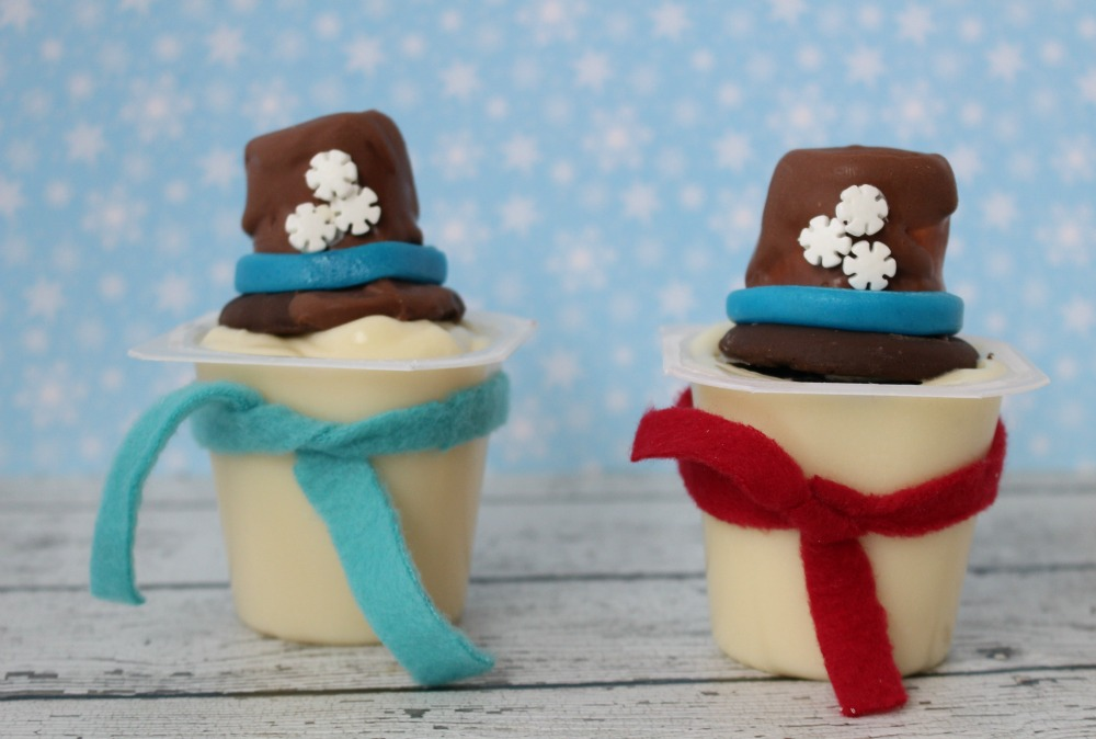 Melted Snowman Snack Pack Pudding