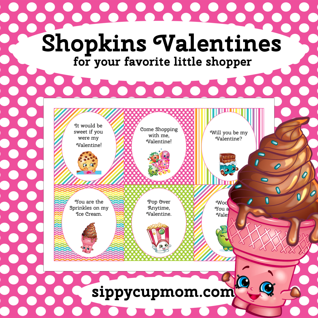 Shopkins Valentine's Day Cards