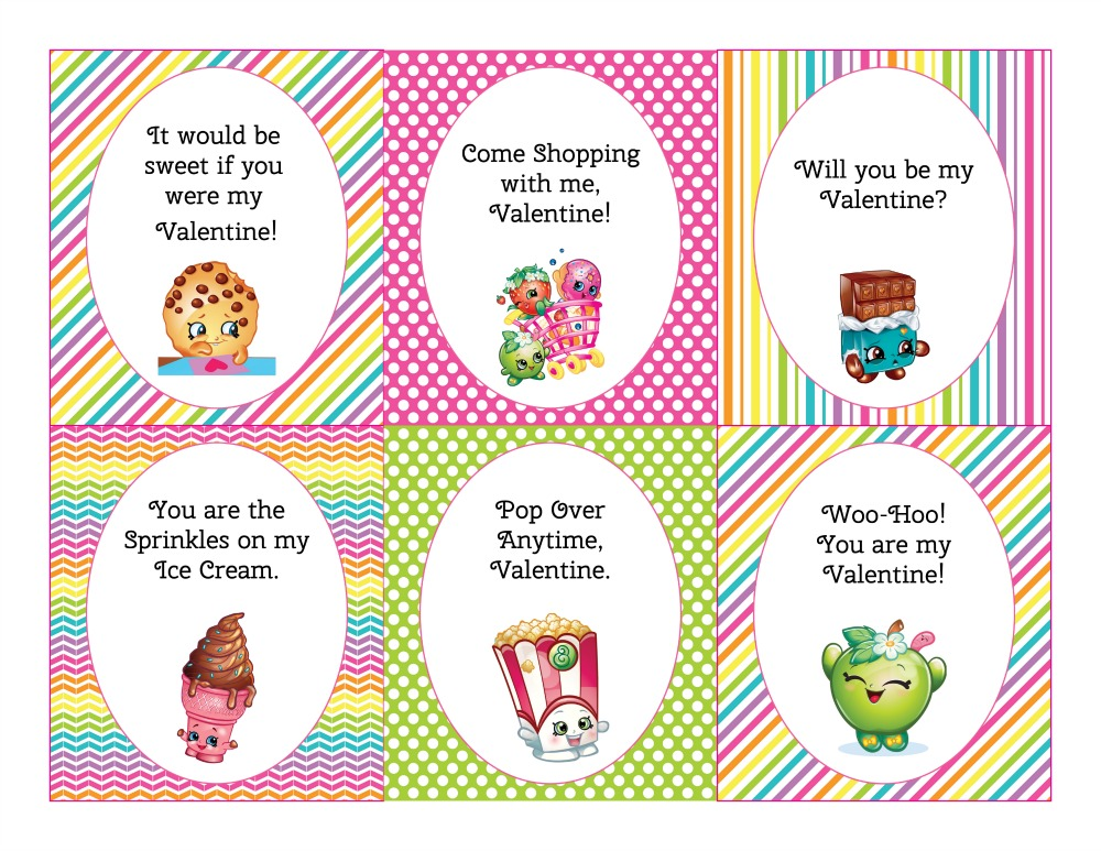 graphic about Shopkins Birthday Card Printable referred to as Absolutely free Printable Shopkins Valentines Working day Playing cards - Sippy Cup Mother