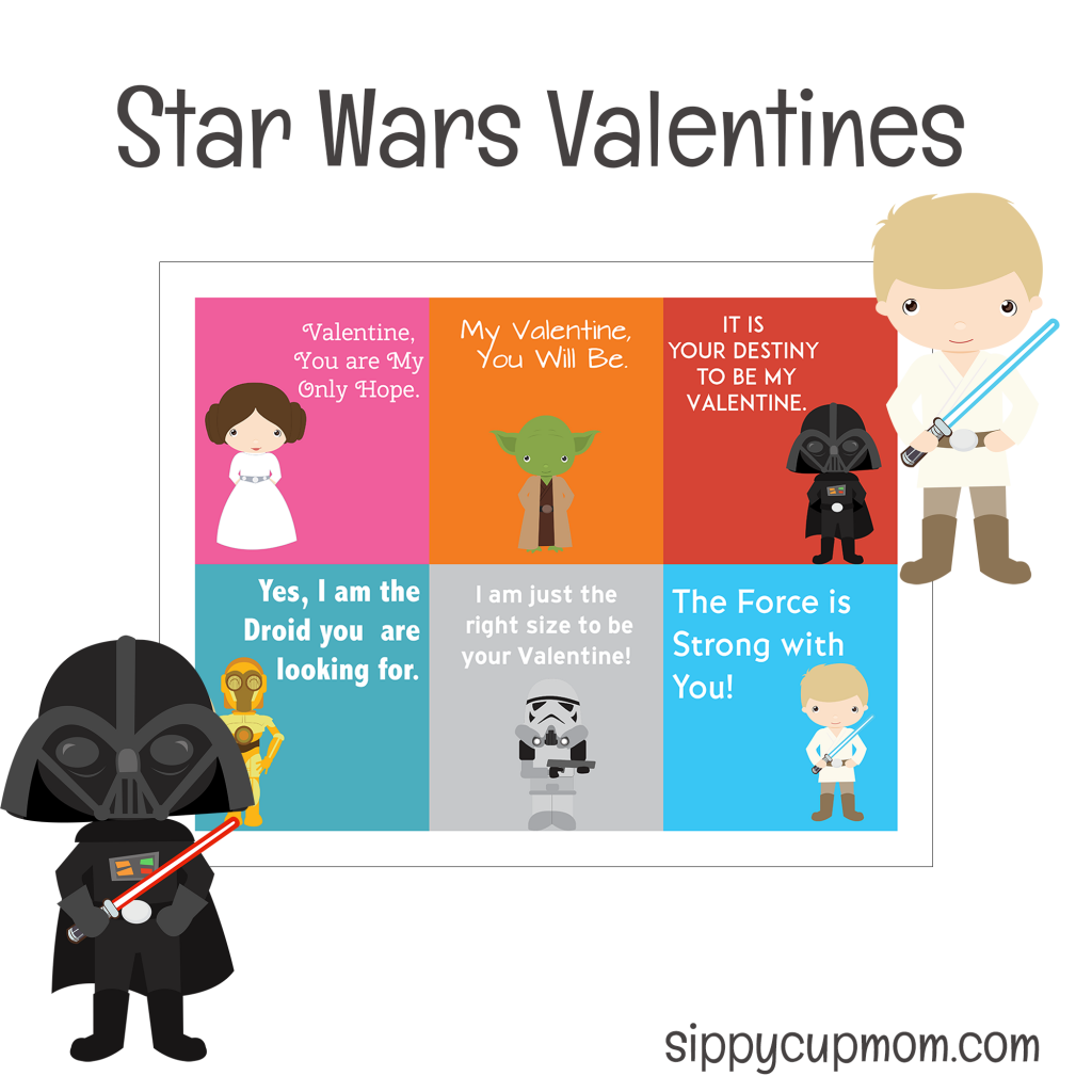 image about Star Wars Printable Cards known as No cost Printable Star Wars Valentines Working day Playing cards - Sippy Cup Mother