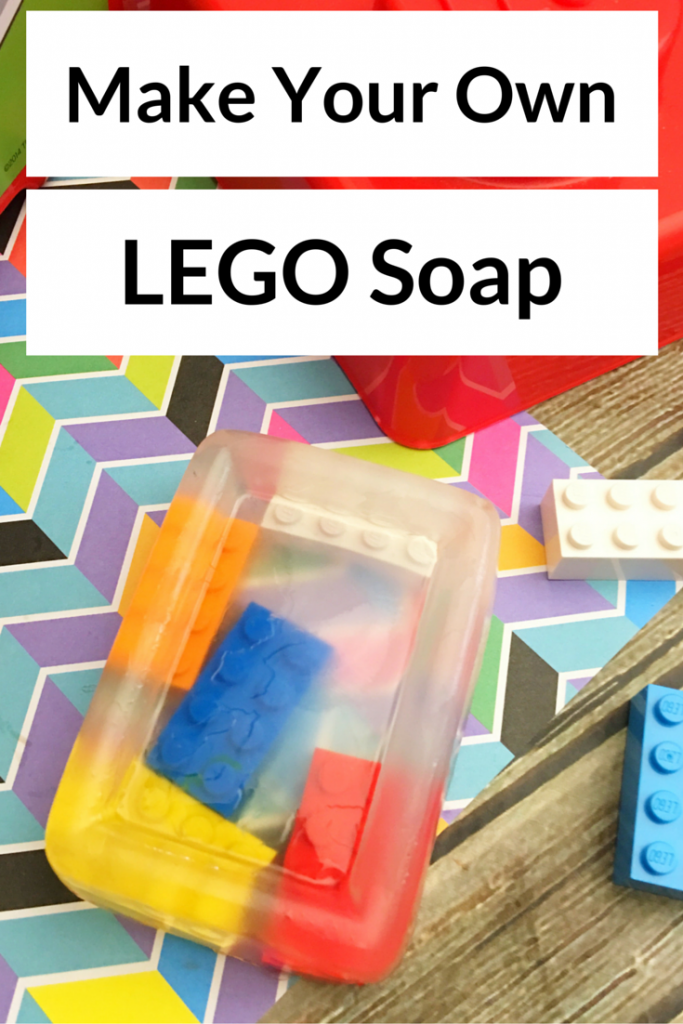 Make your own LEGO Soap with LEGO blocks or minifigures!