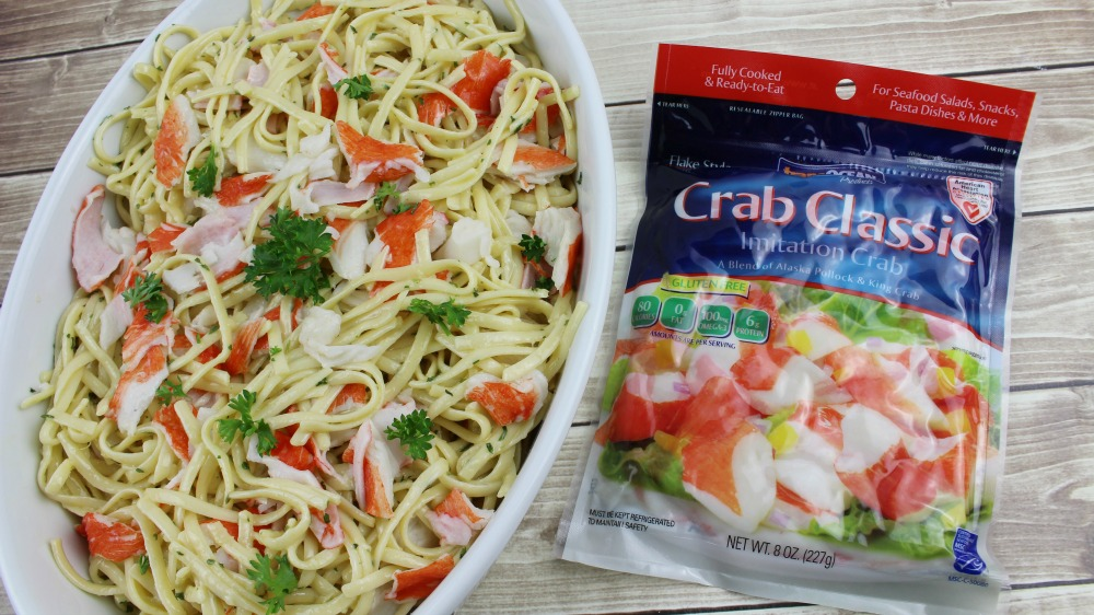 Crab Linguini with Lemon Butter Garlic Sauce with Crab Classic