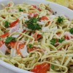 Crab Linguini with Lemon Butter Garlic Sauce
