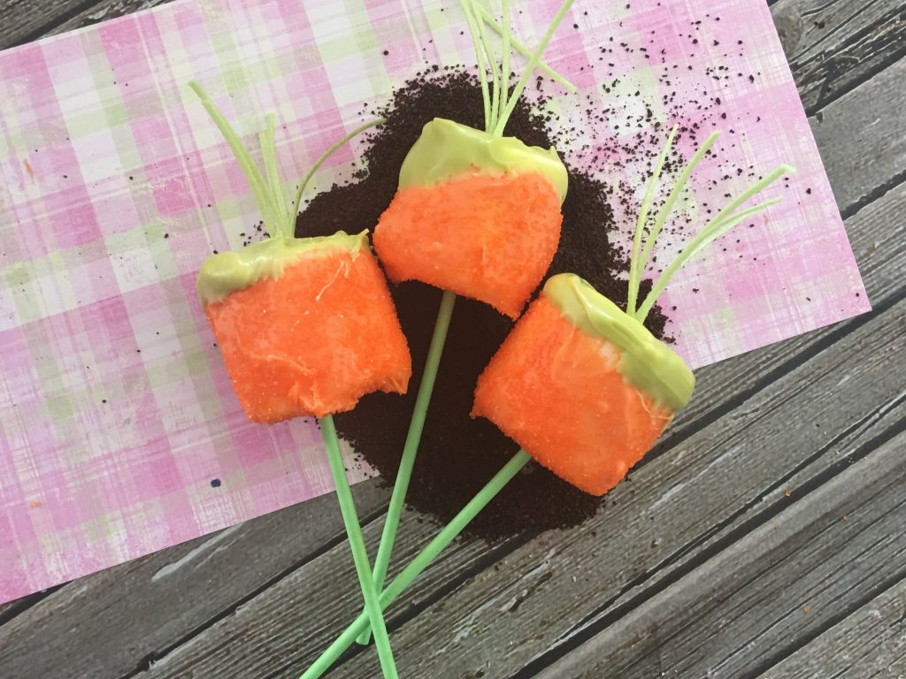 Marshmallow Carrot Pops for Easter
