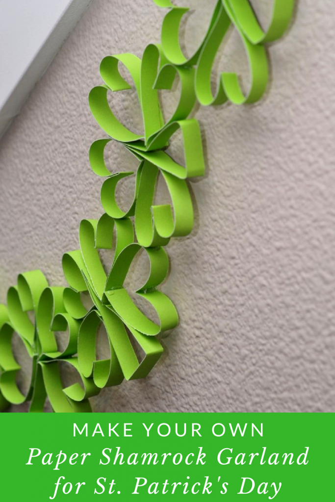 Make Your Own Paper Shamrock Garland for St. Patrick's Day