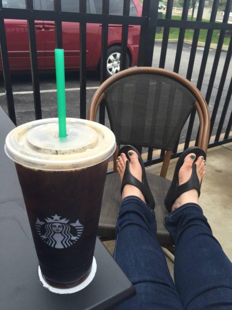 Crocs at Starbucks