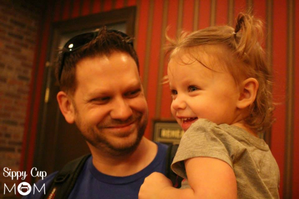 Daddy and Evie at WDW