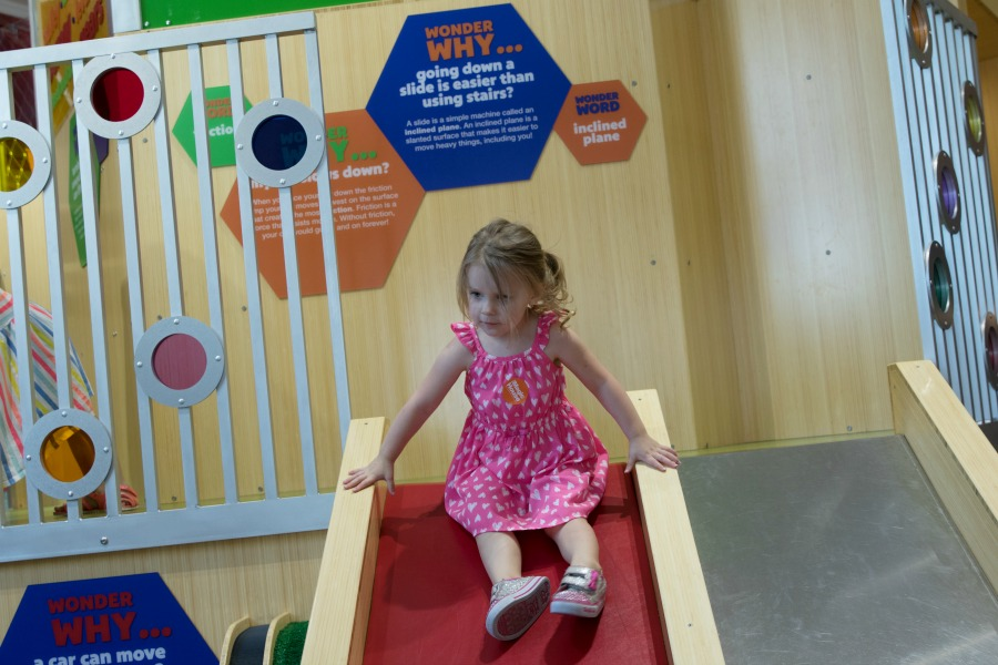 Evie on Slide