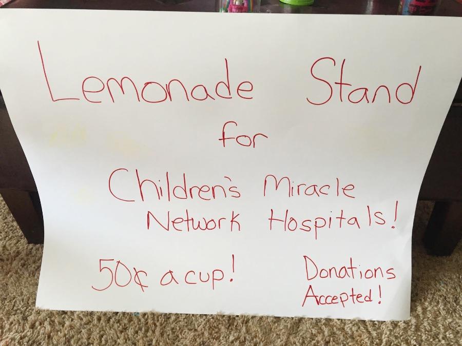 Lemonade for Sale sign