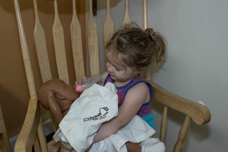 Olivia and Baby