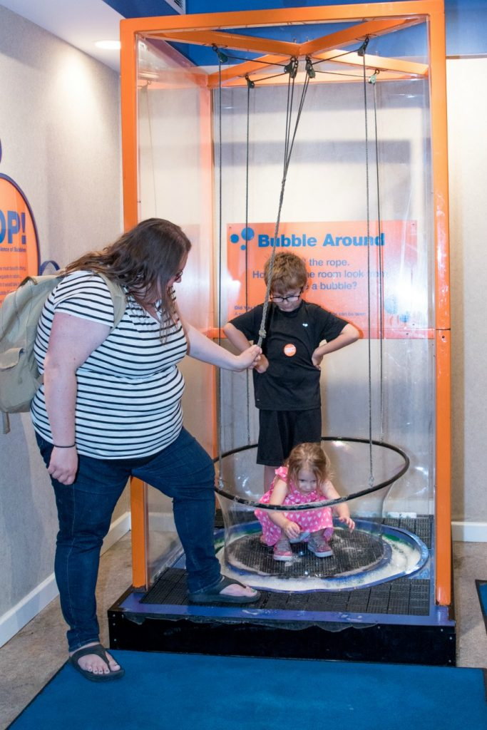 bubbles at The Magic House
