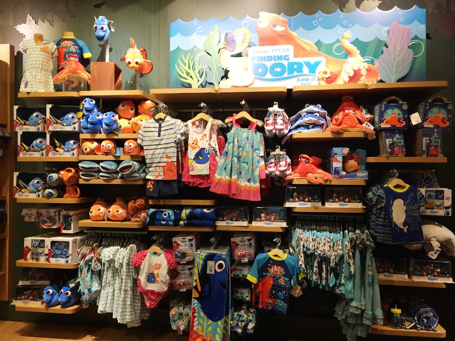 Finding Dory at the Disney Store