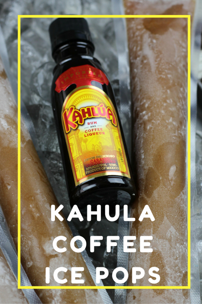 Cool off with this refreshing Kahula Coffee Ice Pops! So easy to make!