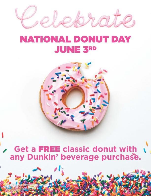 Get a Free Donut from Dunkin' Donuts!
