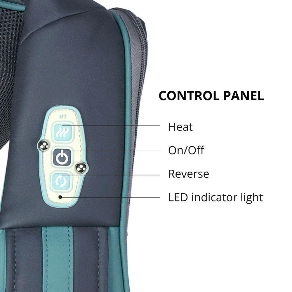 InstaShiatsu+ Neck and Back Massager Control Panel