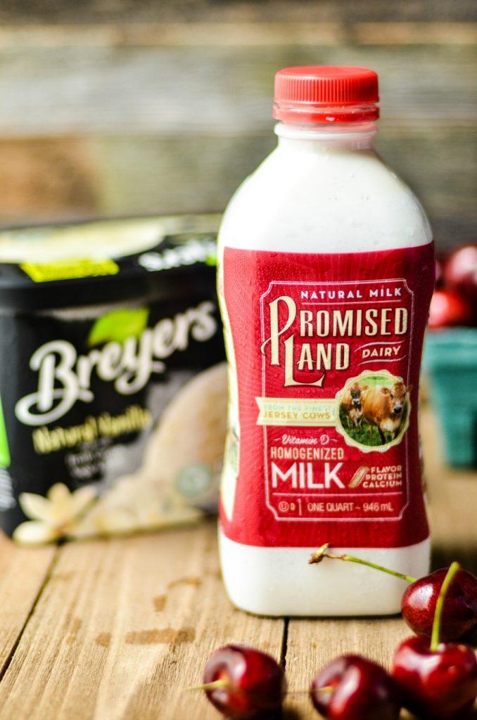 Promised Land Milk and Breyer's Ice Cream