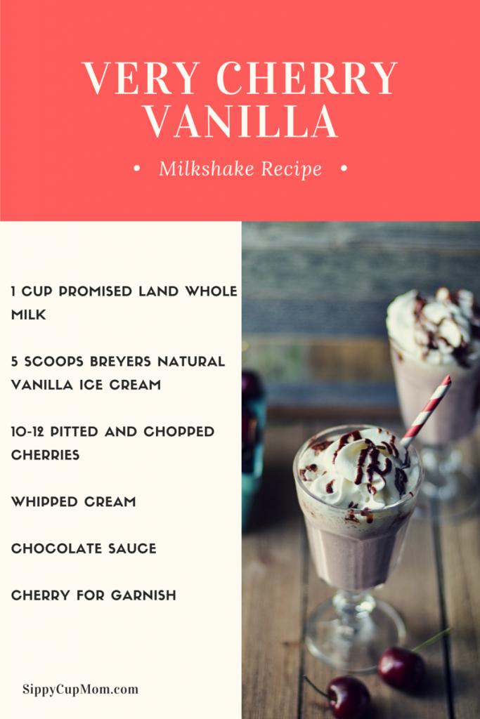 Very Cherry Vanilla Milkshake Recipe