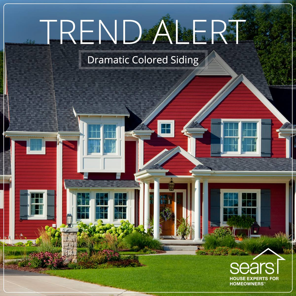 Dramatic Colored Siding from Sears
