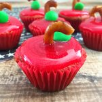 Apple Cupcakes for Back to School