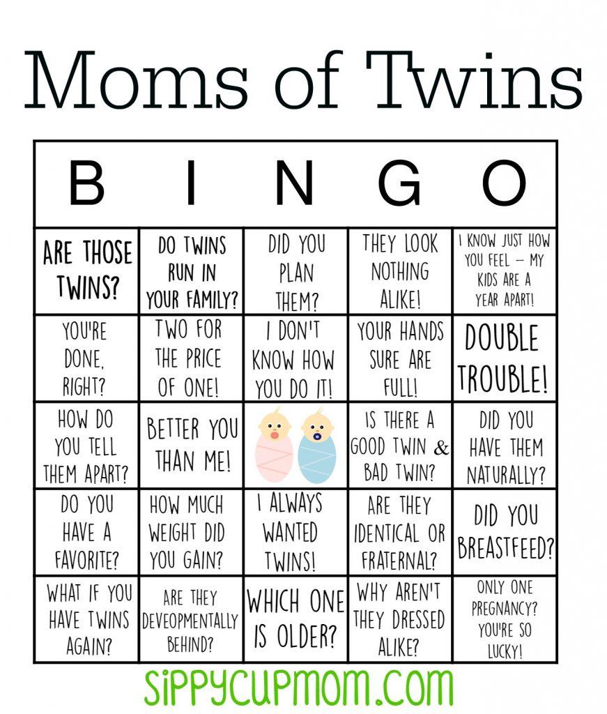 Mom of Twins Bingo