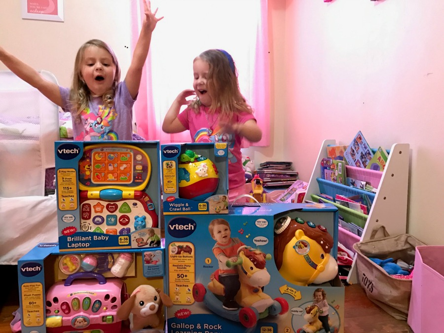 girls-and-vtech-toys