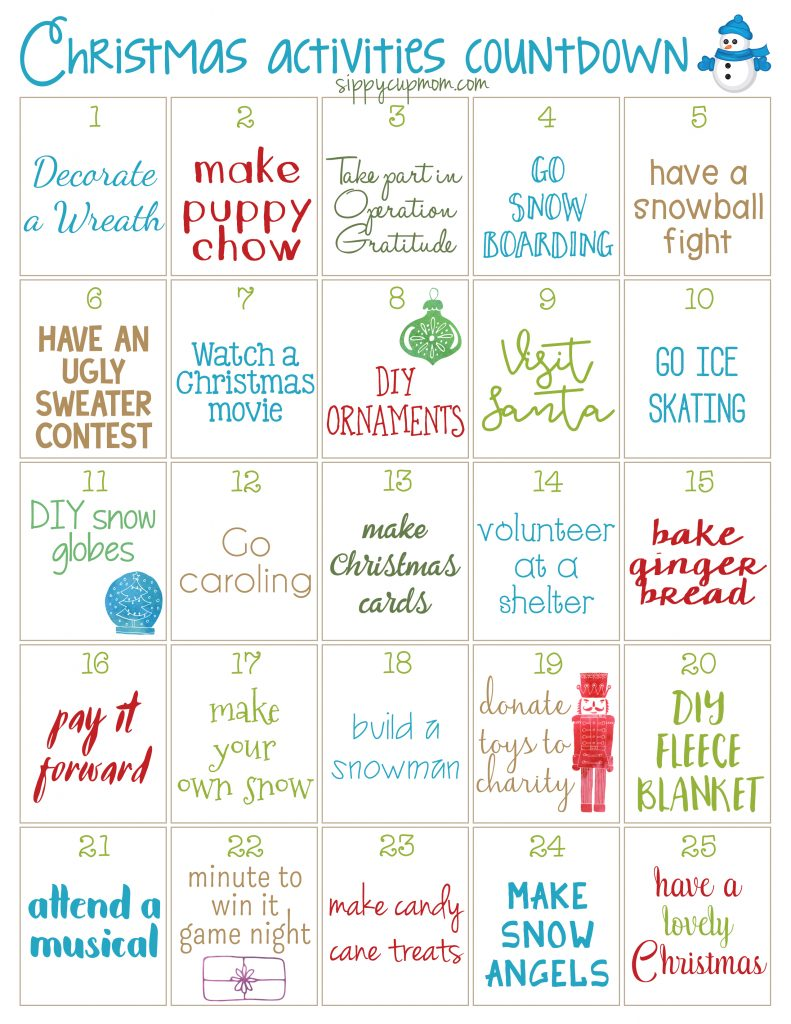 25 Days of Christmas Activities with the Kids!