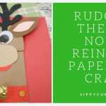 Rudolph the Red Nosed Reindeer Paper Bag Craft