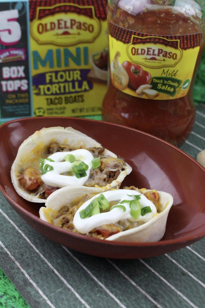 Mini Baked Taco Casserole Boats
