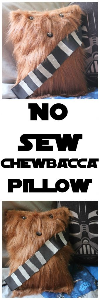 No Sew Chewbecca Pillow
