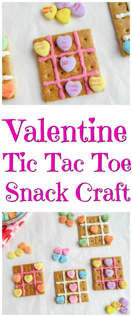 Valentine Tic Tac Toe Snack Craft - perfect for a classroom party too!