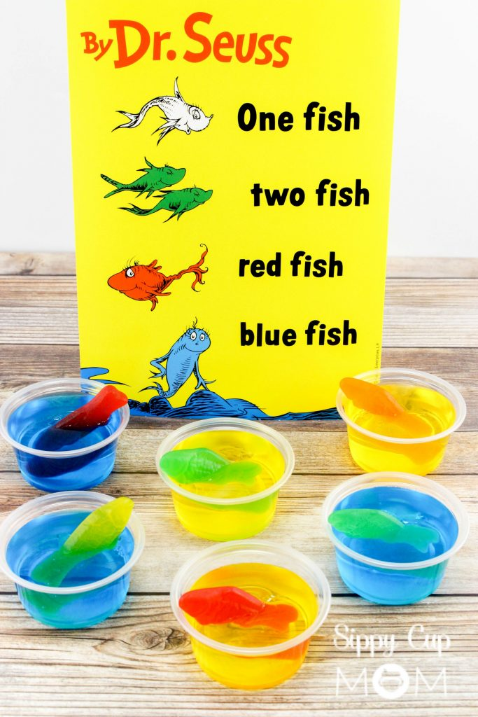 Dr. Seuss One Fish Two Fish Jello Cups