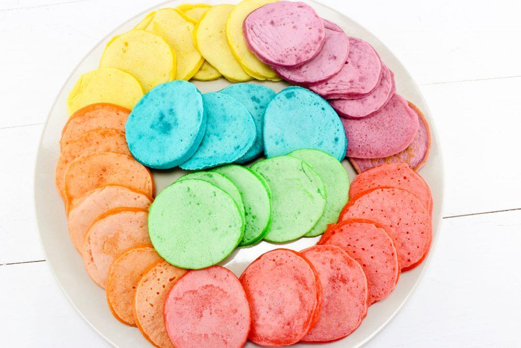 Mini Rainbow Pancakes