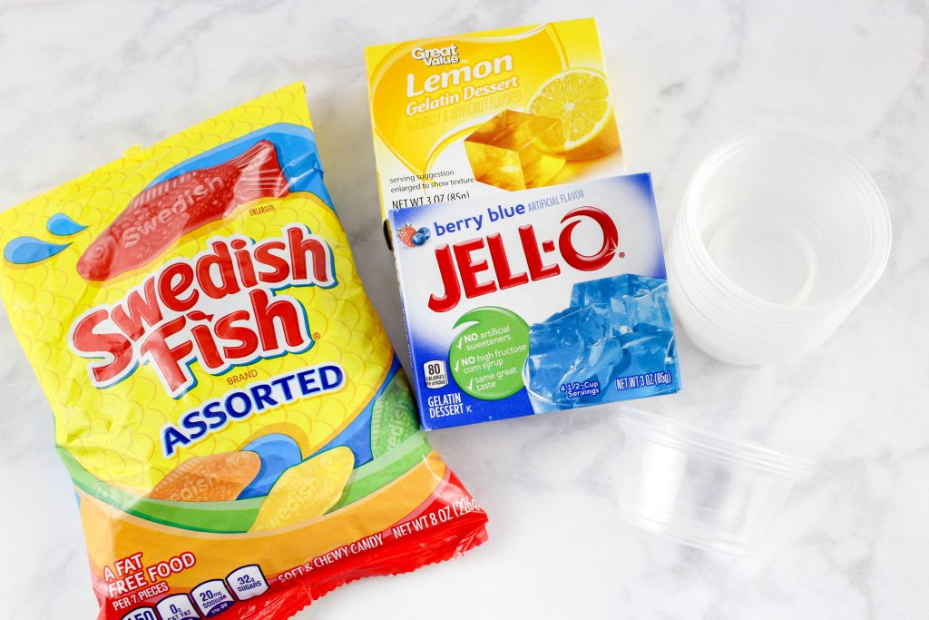 Ingredients for Dr. Seuss One Fish Two Fish Jello Cups