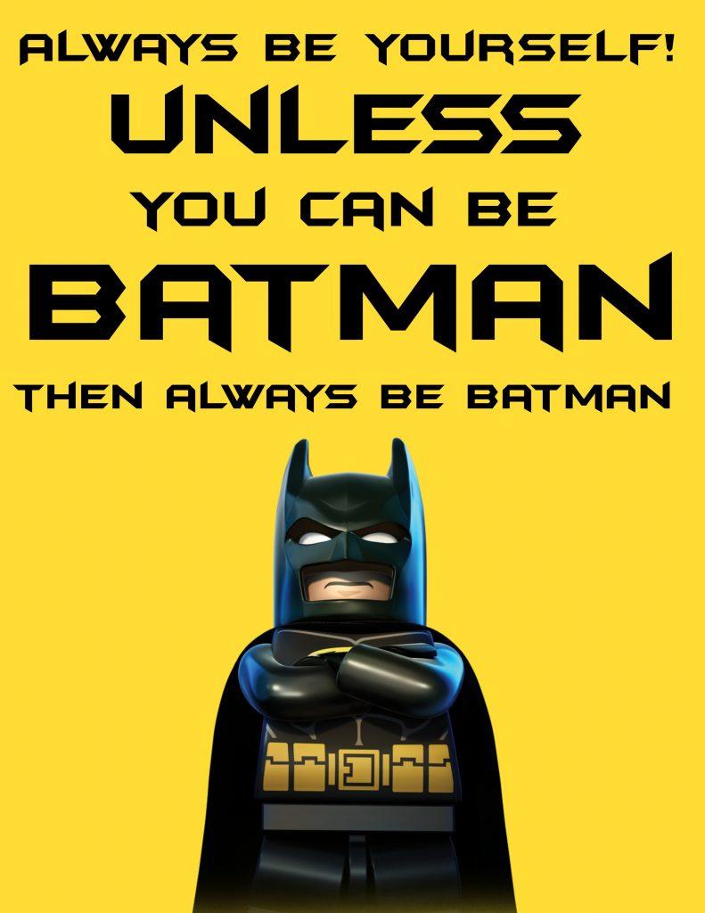 Beautiful Free LEGO Batman Printable