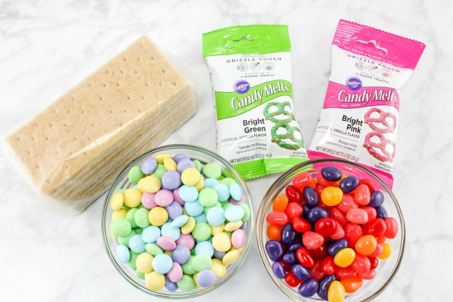 Easter Tic Tac Toe Snack Craft Ingredients