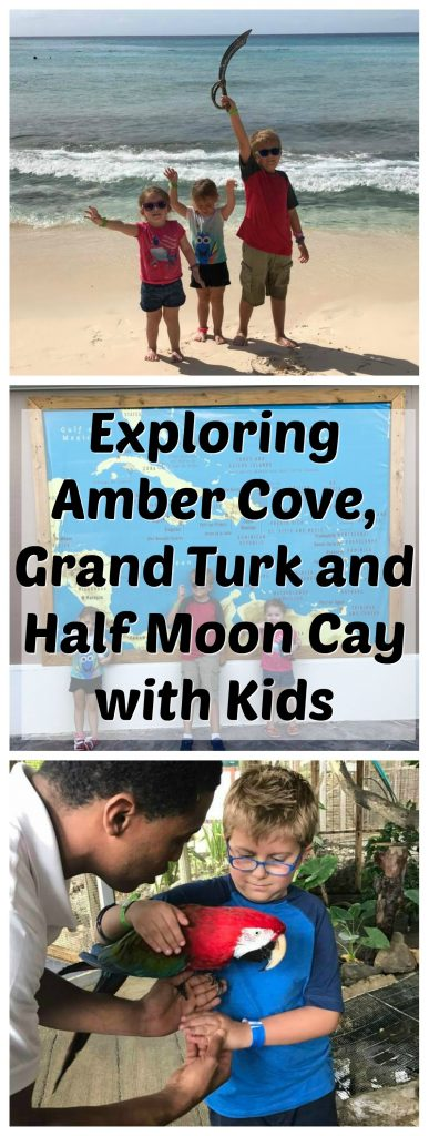 Exploring Amber Cove, Grand Turk and Half Moon Cay with Kids