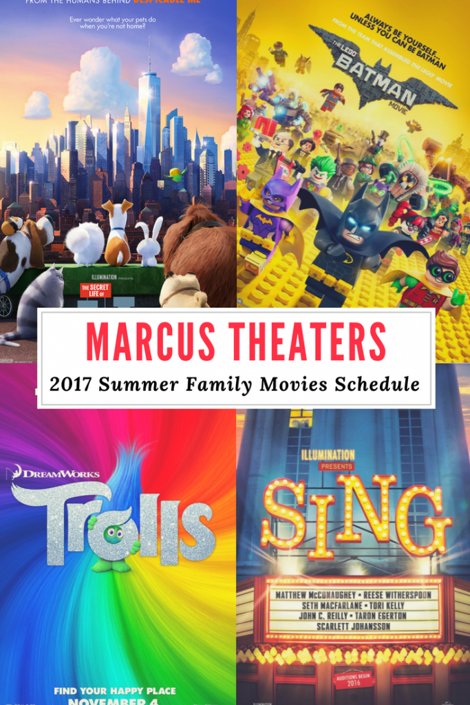 Marcus Theaters 2017 Summer Family Movies Schedule - $3 Movies!