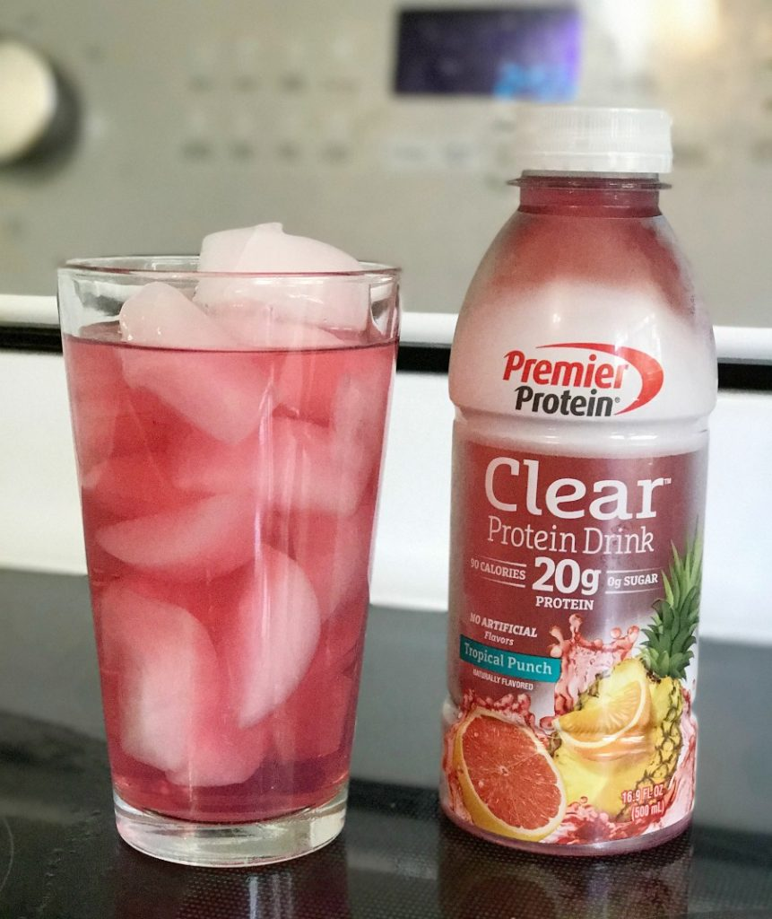 Premier Protein Clear Protein Drink in Tropical Punch