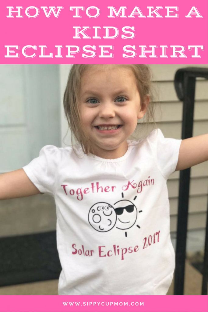 How to Make a Kids Eclipse Shirt - FREE SVG file!